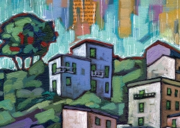 DETAIL: Riomaggiore painting