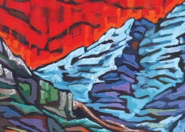 DETAIL: Maroon Bells painting