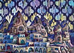 Cappadocia Turkey painting by Anastasia Mak