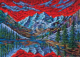 Maroon Bells painting by Anastasia mak