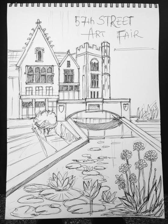 57th Street Art Fair poster sketch