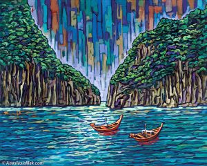 Thailand painting by Anastasia Mak