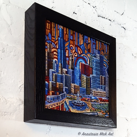 Grant Park Box Frame Print