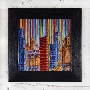 Chicago Blues Box Frame Print