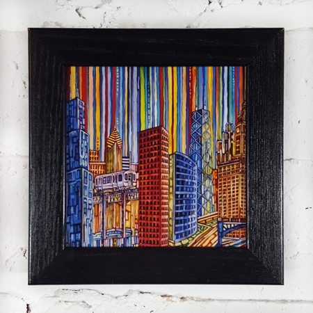 Chicago Blues Box Frame Print