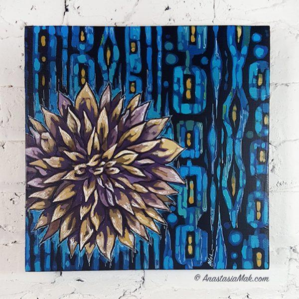 dahlia painting by Anastasia Mak