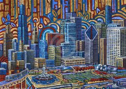 Chicago Grant Park painting