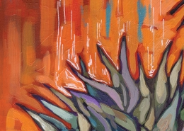 DETAIL: Thistle painting