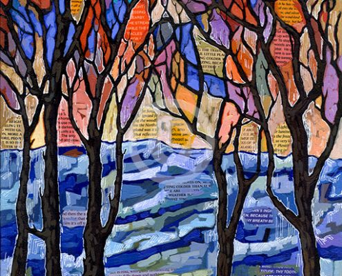 Winter Trees painting by Anastasia Mak