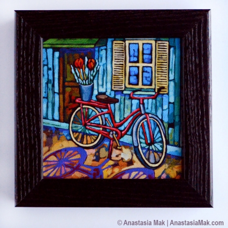 Red Bicycle Box Frame Print