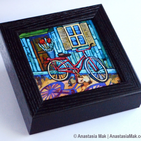 Bike On Break Box Frame Print
