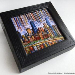 Chicago Skyline Box Frame print
