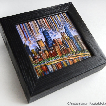 Chicago Skyline Box Frame print