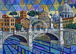 Rome Bridge painting