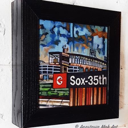 Sox El Stop Box Frame Print