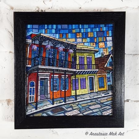 New Orleans box frame print