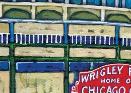 DETAIL: Wrigley Year painting