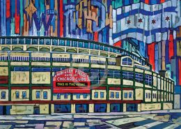 Wrigley Field Painting