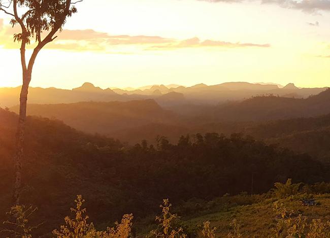 Northern Thailand mountains