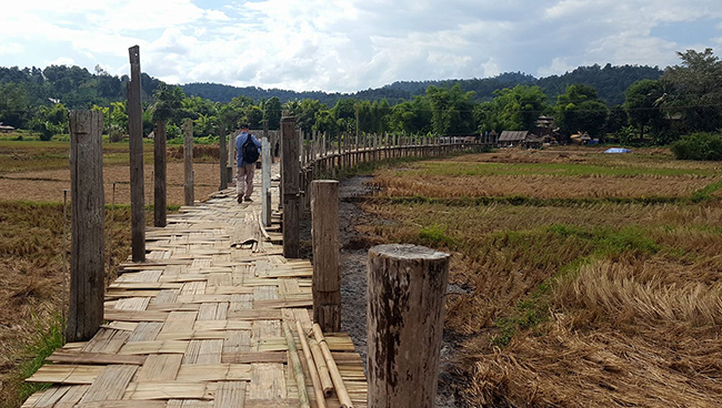 Mae Hong Son bamboo bridge