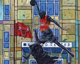Chicago Bulls painting