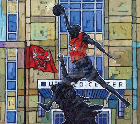 Chicago Bulls painting