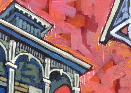 DETAIL: Garden District Evening painting