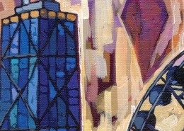 DETAIL: Navy Pier Ferris Wheel painting