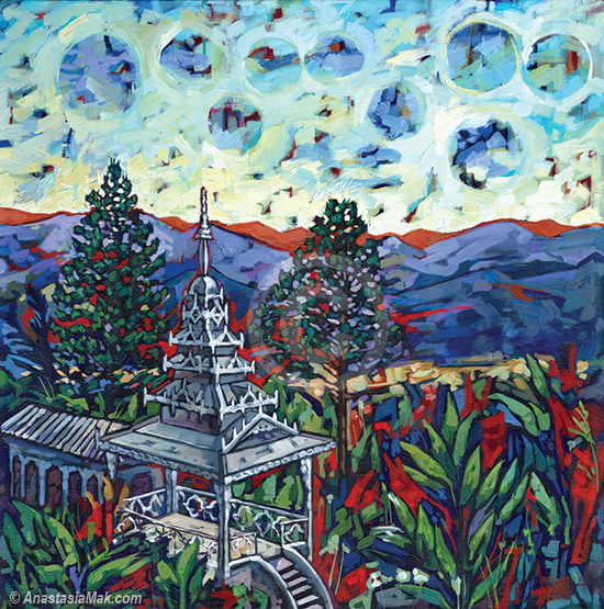 Tower of Peace painting