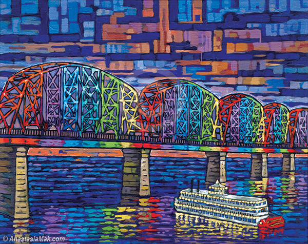 Big Four Bridge painting