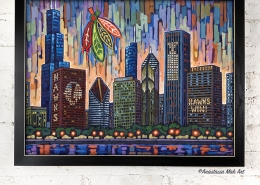 Blackhawks Skyline framed print