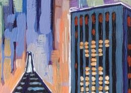DETAIL: Blackhawks Skyline painting
