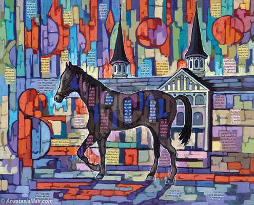 Derby Colt painting by Anastasia Mak