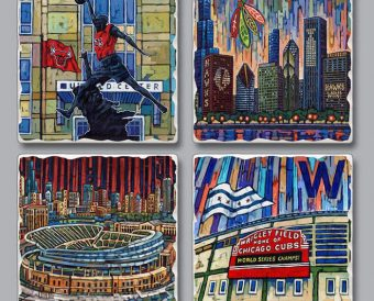 Chicago Sports Coaster Set