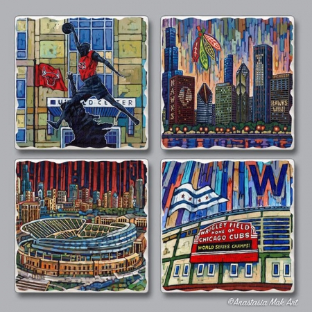 Chicago Sports Coaster Set