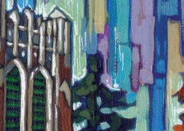 DETAIL: MSU Beaumont Tower painting