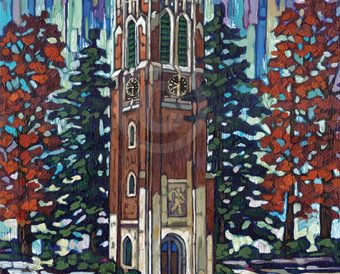 MSU Beaumont Tower painting