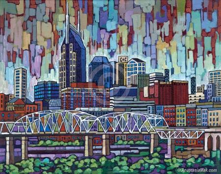 Nashville painting by Anastasia Mak