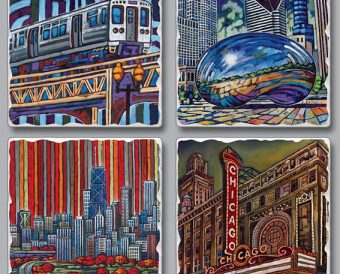 Chicago Views Coasters