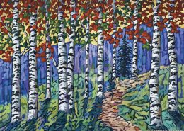 Aspen Forest painting