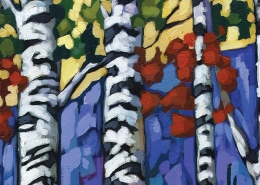 DETAIL: Aspen Forest painting
