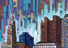 DETAIL: Columbus painting