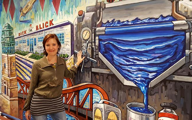 Blick Art Materials mural