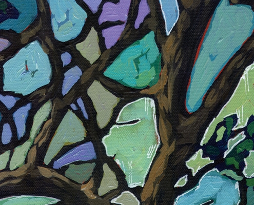 DETAIL: Zion Trees painting