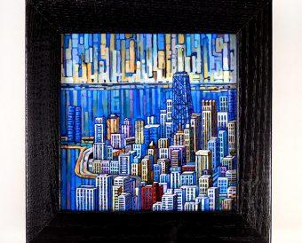 Aerial Chicago Box Frame Print