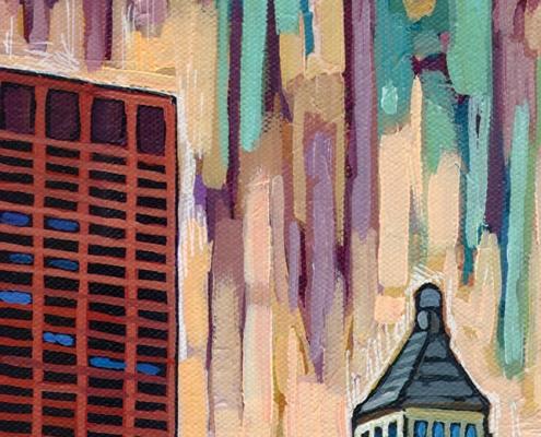 DETAIL: Buckingham Fountain painting