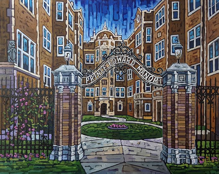 Prince Edward Manor painting by Anastasia Mak