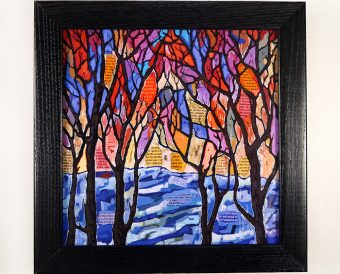Winter Song box frame print
