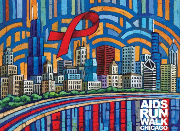 Chicago Aids Walk poster by Anastasia Mak