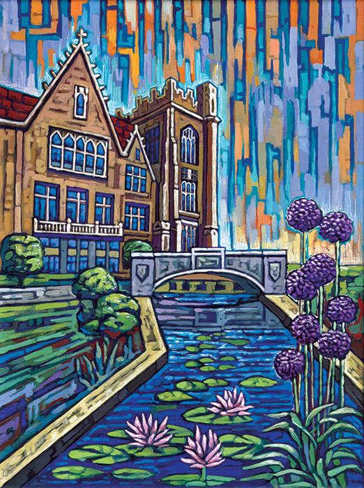 Botany pond painting by Anastasia Mak